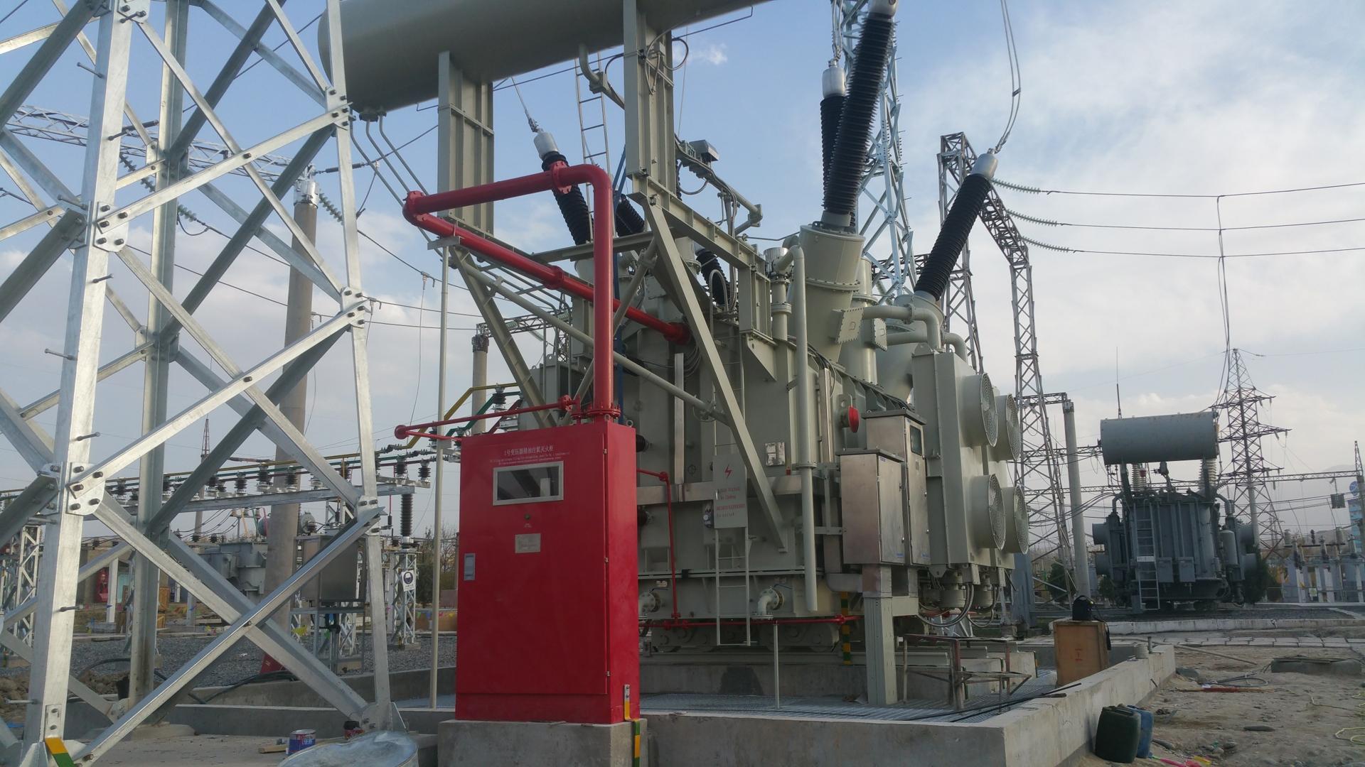 塔吉克斯坦变压器排油注氮灭火装置项目